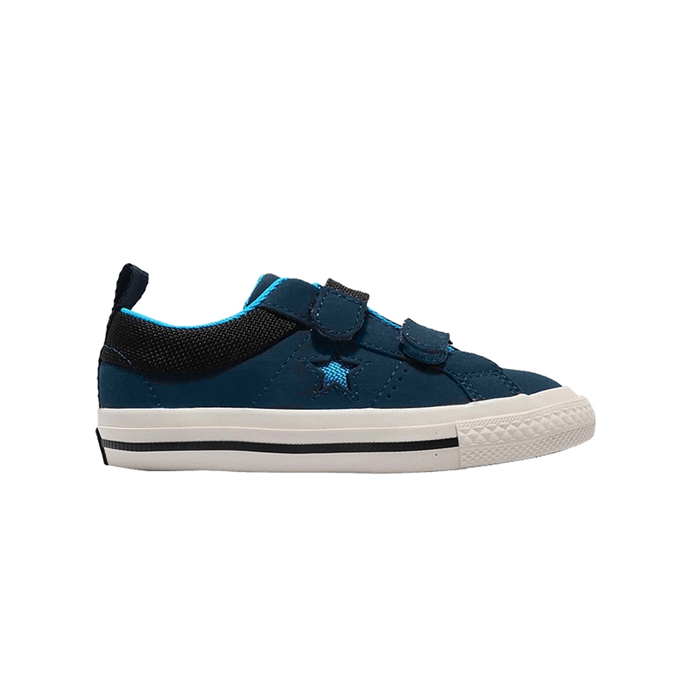 CONVERSE ONE STAR 2V OX 休閒鞋 小童 藍黑-762857C