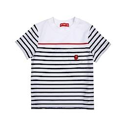 WHY AND 1/2 條紋棉質萊卡T恤-親子裝 5Y~10Y