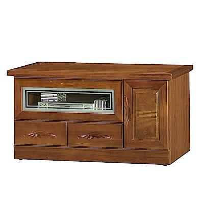 綠活居 艾莉坦時尚3.9尺木紋電視櫃/視聽櫃-117x50x62cm-免組