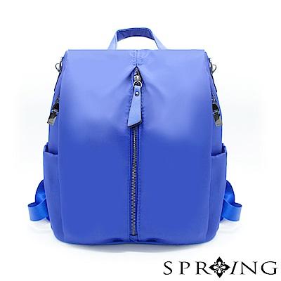 SPRING-偶然相遇的輕量防盜多用後背包-寶石藍