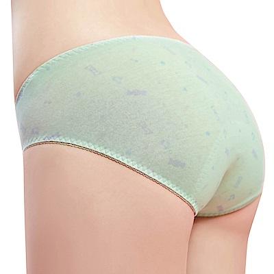 思薇爾 棒棒糖輕甜風系列M-XXL低腰日用生理褲(水沐綠)