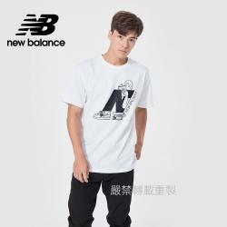 【New Balance】藝術家短袖上衣_男性_白色_AMT11520WT