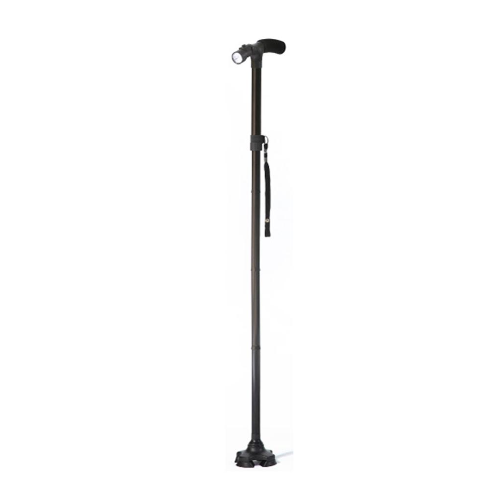 可調節鋁合金手電筒摺疊拐杖