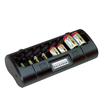 POWEREX 大小通吃八通道充電器 MH-C808M