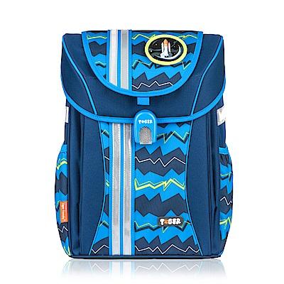 Tiger Family經典學院風超輕量護脊書包-藍色條紋