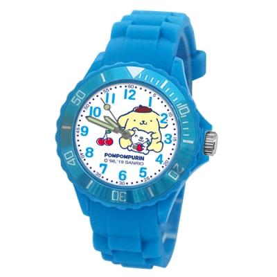 Sanrio三麗鷗二代中型運動彩帶錶34mm布丁狗(天藍)
