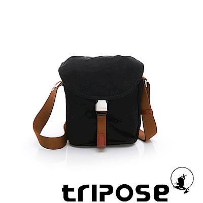 tripose MEMENTO系列微皺尼龍輕量防潑水郵差包 黑