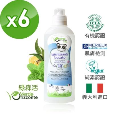 義大利 綠森活 舒敏衣物去漬抗菌液 6入組(1000ml)x6瓶