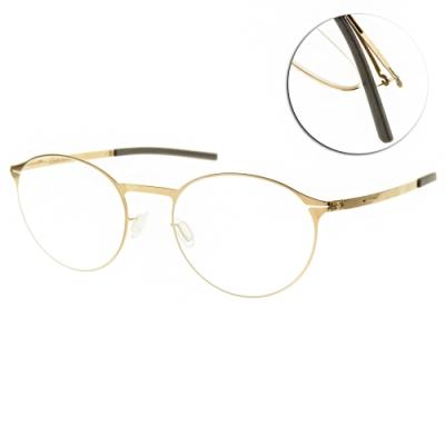 ic!berlin 光學眼鏡 薄鋼圓框款/玫瑰金  #ETESIANS ROSE GOLD