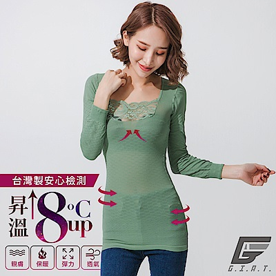 GIAT150D蕾絲美型機能保暖衣(一般款/草芯綠)