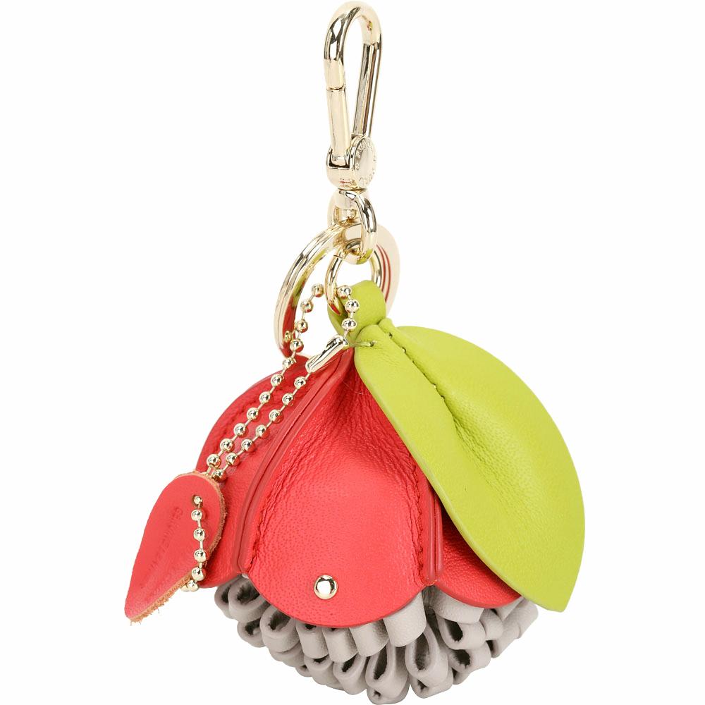FURLA Bubble 紅色牛皮松果實鑰匙圈 @ Y!購物