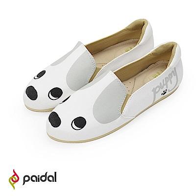 Paidal超萌小白狗頭鞋懶人鞋樂福鞋休閒鞋