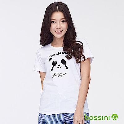 bossini女裝-印花短袖T恤30白
