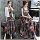 新藝術風格背心長裙+精緻罩衫外套M-5XL-KVOLL