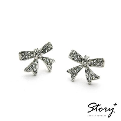 STORY故事銀飾-氣質時尚耳環-Gift晶鋯耳環