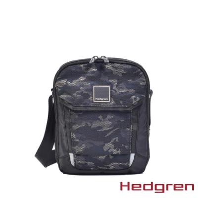 【Hedgren】LINK平版 7吋側背包-迷彩黑