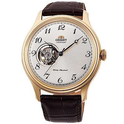 ORIENT東方錶 簡白經典鏤空自動機械錶(RA-AG0013S10B)-白x43mm