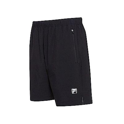FILA 男抗UV平織短褲-黑 1SHS-5302-BK