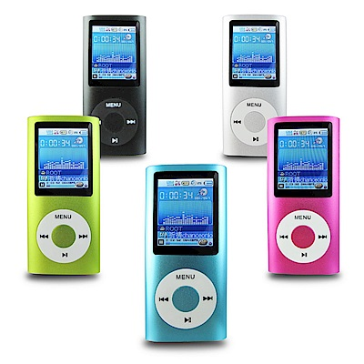 DW-B1823蘋果四代1.8吋彩色螢幕 MP4隨身聽(內建8GB)(送6大好禮)