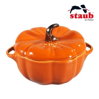 法國Staub 南瓜造型琺瑯陶缽 19cm 肉桂色