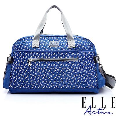 ELLE Active 旅人系列-旅行袋-藍色