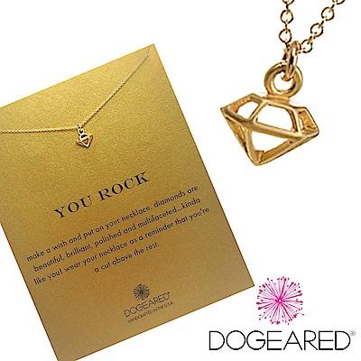 Dogeared 立體鑽石 金色許願項鍊 獨一無二的耀眼 附原廠盒