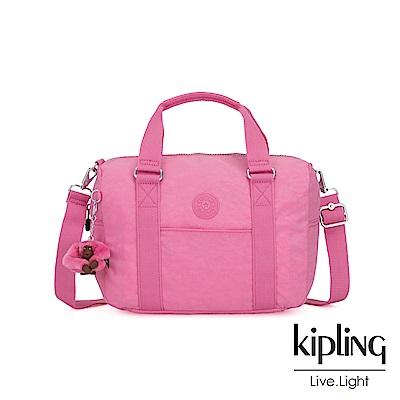 Kipling 甜美糖果粉手提側背包-CASKA