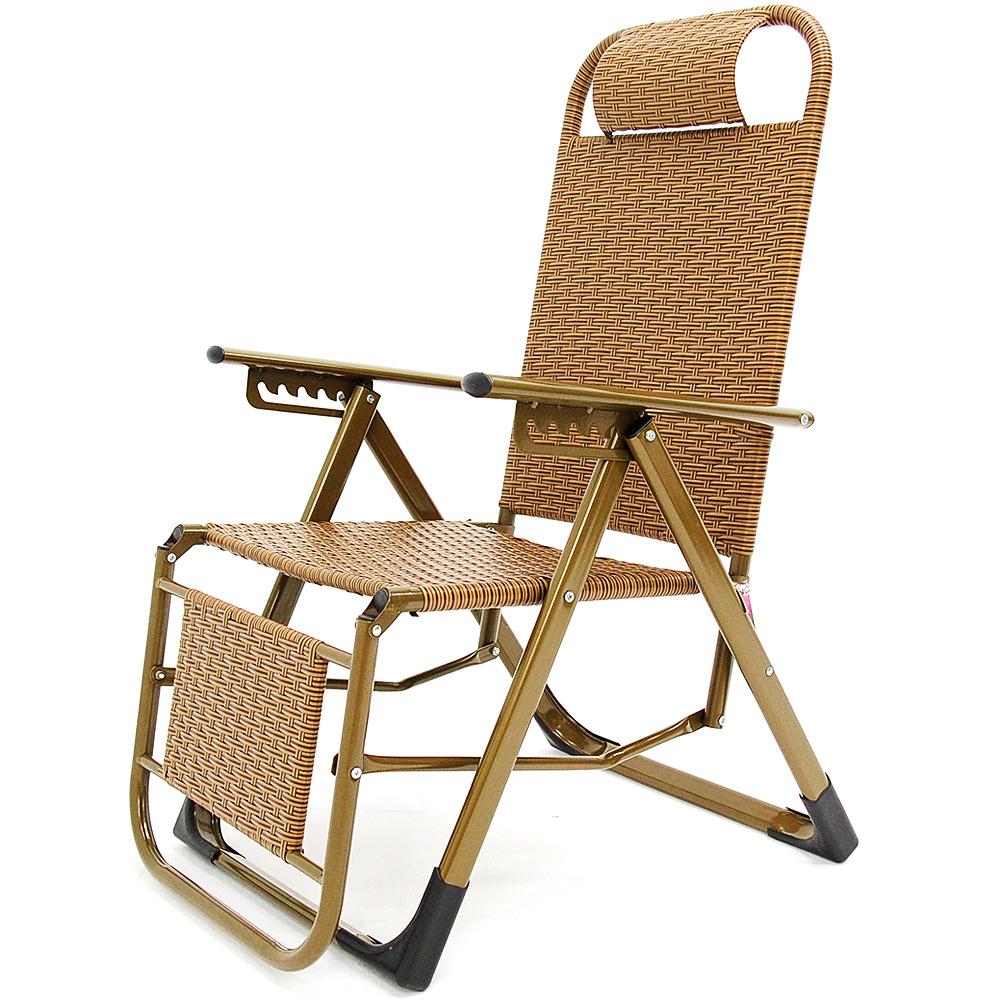 復古時尚編織雙面躺椅 籐椅