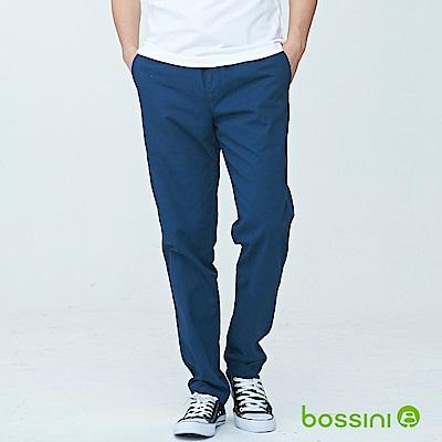 bossini男裝-輕便長褲18孔雀藍