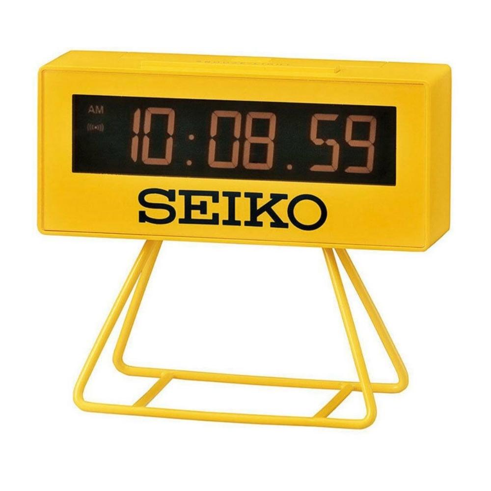 SEIKO 日本精工 倒數計時 電子鐘 鬧鐘(QHL062Y)-黃/9.3X10.4cm