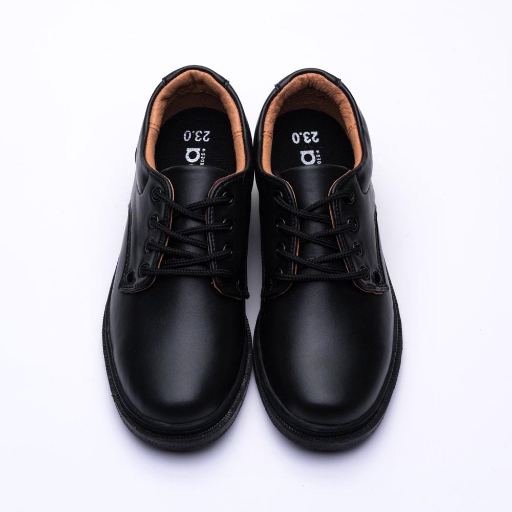 艾樂跑 Arriba 女鞋 AB-7099 綁帶式真皮皮鞋 學生鞋 -黑