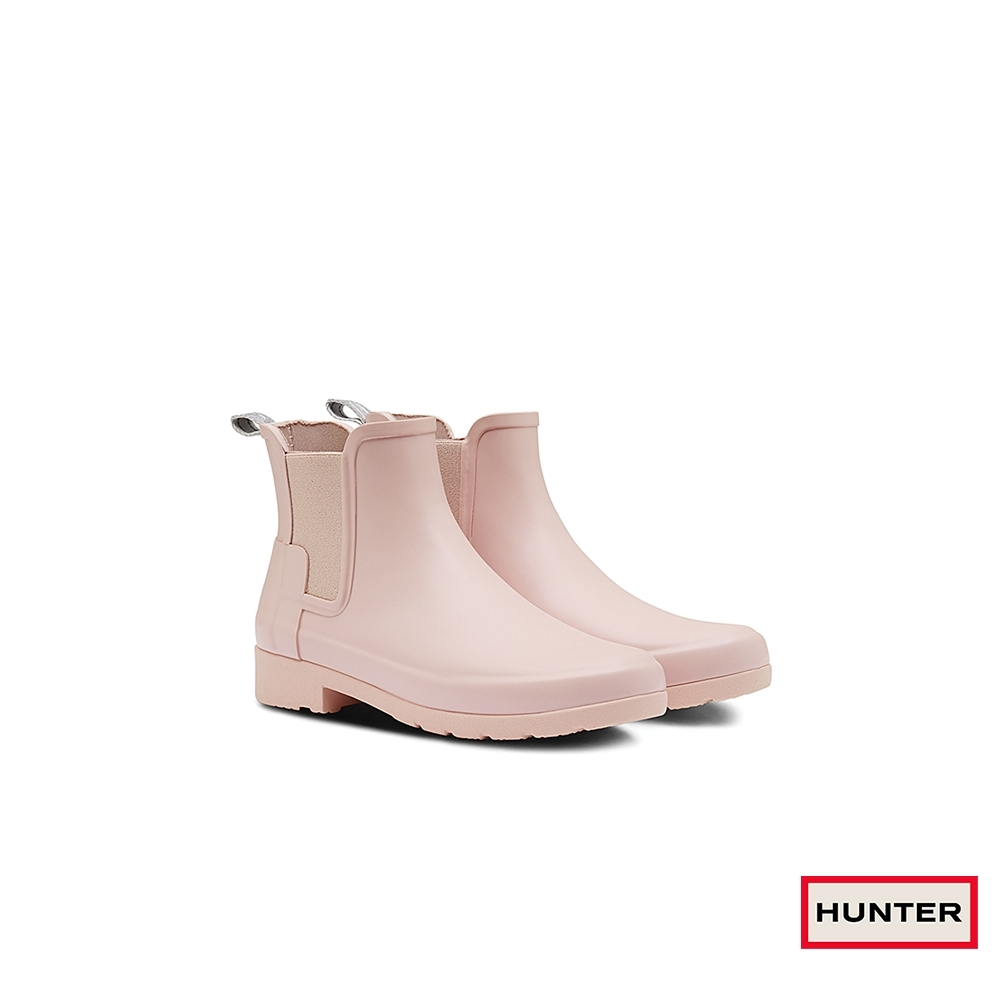 HUNTER - 女鞋-Refined切爾西霧面踝靴 - 粉紅
