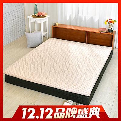 (雙12限定)LooCa 天然防蹣防蚊冬夏兩用5cm乳膠床墊 點點 加大6尺