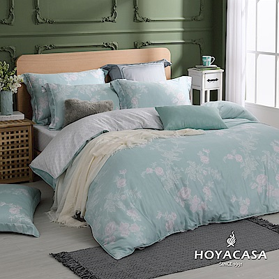 HOYACASA光陰歲月 雙人四件式抗菌60支天絲兩用被床包組