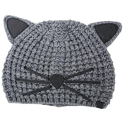 KARL LAGERFELD Choupette 金蔥細節深灰色貓咪造型針織帽