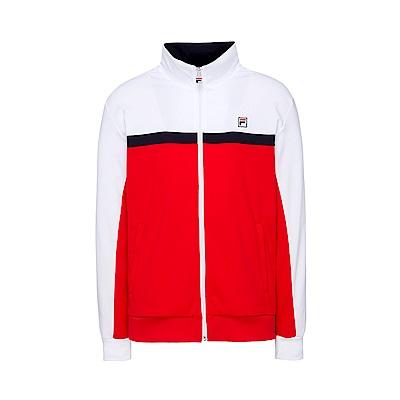 FILA 男款吸濕排汗外套-紅色 1JKT-1450-RD