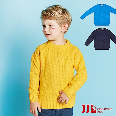 JJLKIDS 經典復古格紋素色毛衣(3色)