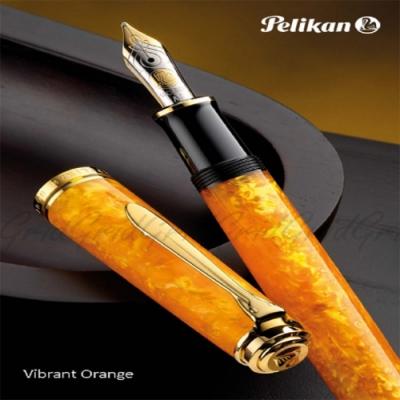 德國PELIKAN百利金 限量款 M600 亮麗橘鋼筆