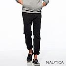 Nautica彈性修身輕薄休閒長褲-黑