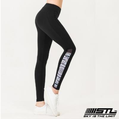 STL yoga legging Sara 9分 韓國瑜珈 中低腰 運動訓練 拉提塑身緊身壓力褲 圖騰