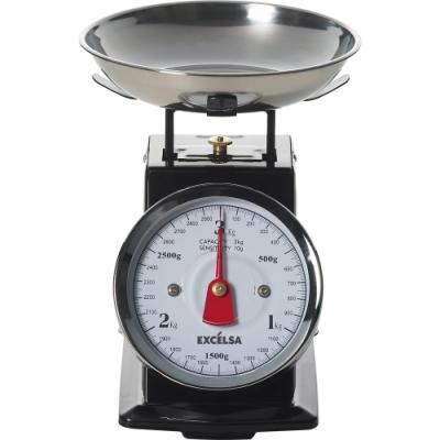 《EXCELSA》Vintage料理秤(黑3kg)