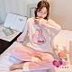 保暖睡衣 美好的一天 法蘭絨睡衣 縮口設計 居家保暖兩件式成套睡衣 (粉紅F)  AngelHoney天使霓裳 product thumbnail 1