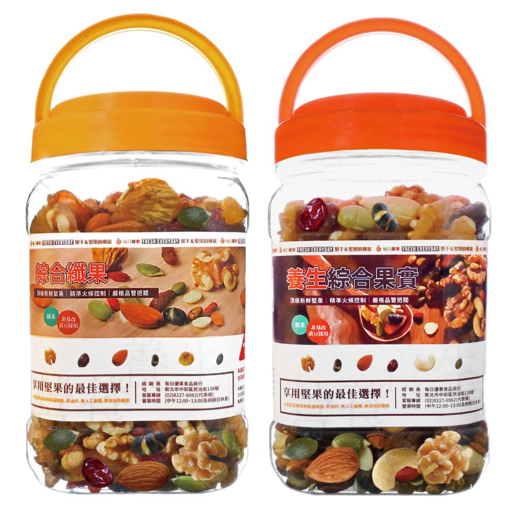(時時樂) 每日優果 罐裝養生綜合果實(420g)/綜合纖果(400g) 2口味選1