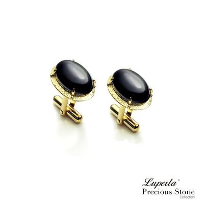大東山珠寶 黑色帥氣 仕紳系列 黑瑪瑙 西裝領徽 袖扣