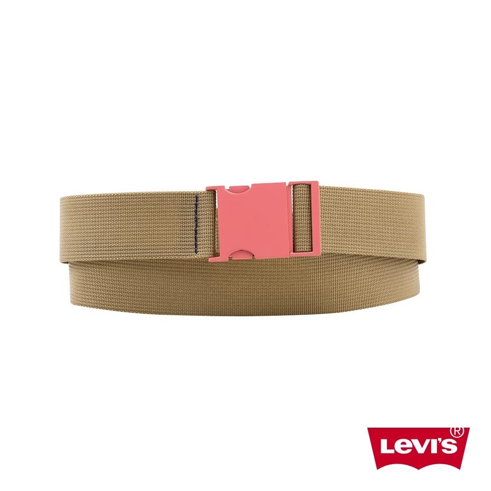 Levis 男款 皮帶 街潮釦環設計 鮭魚粉