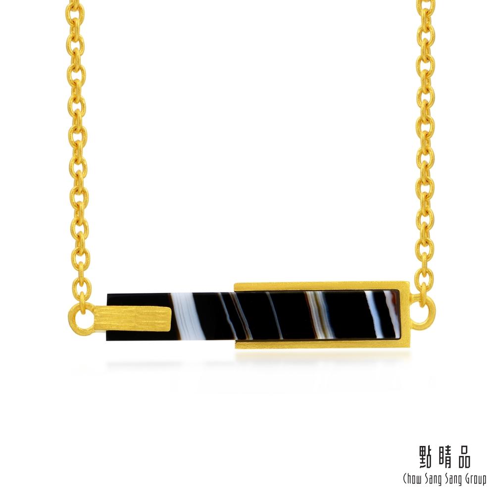 點睛品 g* 系列 黑瑪瑙黃金項鍊