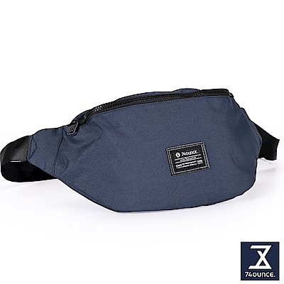 74盎司 Life 簡約設計尼龍胸包[G-1003]藍