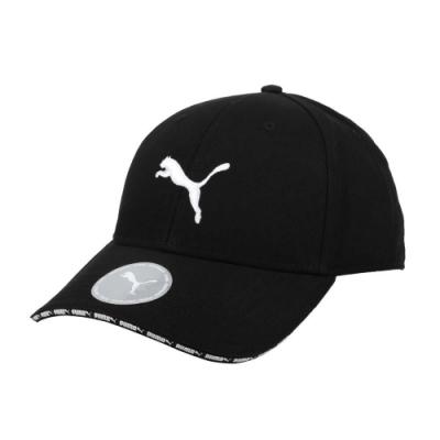 PUMA 棒球帽-鴨舌帽 遮陽 防曬 帽子 純棉 02282401 黑白