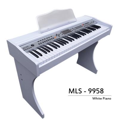 冬季最新款,象牙白電鋼琴,61厚鋼琴鍵,MP3播放,麥克風自彈自唱,非電子琴音色