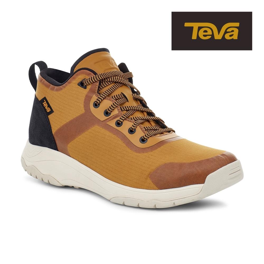 【TEVA】原廠貨 男 Gateway Mid 中筒防潑水輕量休閒鞋/健走鞋(金屬色-TV1115192MDL)